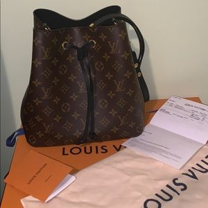100% AUTHENTIC Louis Vuitton Neonoe MNG Noir bag